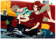 yusuke y fuuto. Anime Love, Anime Guys, Brothers Conflict, Anime Screenshots, Diabolik Lovers, Shoujo, Little Sisters, Animation, Fan Art