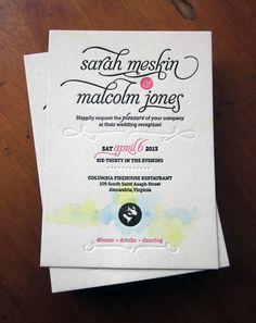 Sarah and Malcolm Wedding Invitations