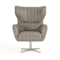 """Modern Grey Eco-Leather Accent Chair Divani Casa Kylie Collection VGKKA-963-GRY $725  Product :?˜17986  Finish :?˜Eco-Leather  Features :  Upholstered in Grey Eco-Leather Color Code: CU001 Metal Base Dimensions :  Chair : W30"""" x D31"""" x H41"""" Arm Height: 25"""" Seat Depth: 20"""" Seat Height: 19"""" ?˜"""