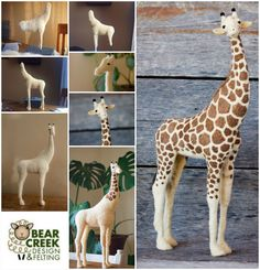 Needle Felted Giraffe #7 by Teresa Perleberg - Bear Creek Felting