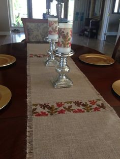 Thanksgiving / Fall Burlap Table Runner by ChicAndTotallyUnique, $24.00