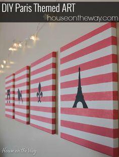 DIY Paris Themed Art from houseontheway.com