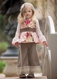 Persnickety Clothing - Pretty in Pink Olive Top in Multi size 8&3 and Hazel pants in same sizes