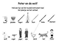 werkblad Peter en de wolf