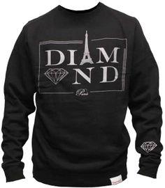 Diamond Supply Co Paris Crew Black http://digitalthreads.co DigitalThreads.co