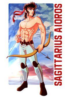"eeriechan: "" Sagittarius Aioros|| Archery session pinup para @anewe9 ;) I'm…"