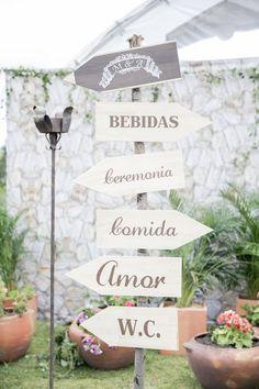 Ideas para que no se pierdan los #invitados  de una #bodacampestre