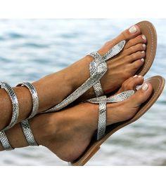 Fab Sandals... Cobra - Silver