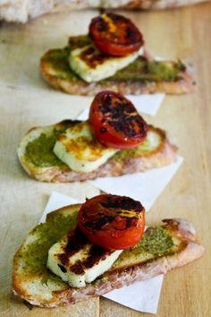 Grilled haloumi & toast. #breakfast