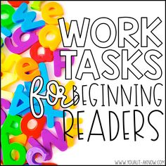 Are your special education students beginning to read? Check out these 8 quick and easy work tasks for beginning readers.