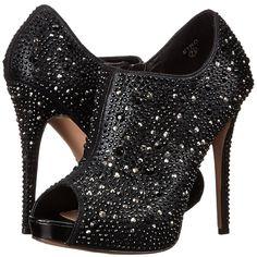 Lauren Lorraine Etro High Heels ($149) ❤ liked on Polyvore featuring shoes, sandals, rhinestone stilettos, platform shoes, rhinestone sandals, wrap sandals and high heel platform sandals