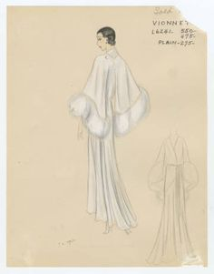 Bergdorf Goodman sketches : Vionnet 1930-1939. 1930-1939. Metropolitan Museum of Art (New York, N.Y.). Costume Institute. Bergdorf Goodman sketches, 1929-1952 Costume Institute. #beauty | All dressed and nowhere to go.