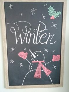 Winter Chalkboard