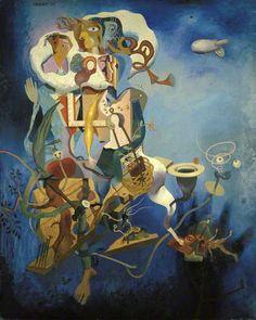 La vie distraite, 1939 by William Crosbie (Scottish 1915–1999)