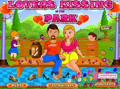 Lovers Kissing Park - Kiss Games Online - Dressup24h.com Online Girl Games, Games For Girls, More Games, Games To Play, Kissing Games, Lovers, Park, Kids, Free