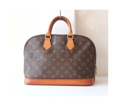 Louis Vuitton Monogram Alma MM Brown Authentic Vintage handbag purse by hfvin on Etsy