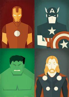 Kit Posters Os Vingadores