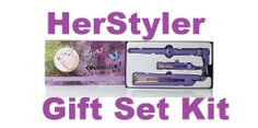 Herstyler Purple Colorful Seasons Complete Hair Kit Set, Full Size and Mini Straightener, and Grande Curling Iron by HerStyler. $69.99. MINI HAIR STRAIGHTENER   *UNIQUE FOR EASIER AND MORE COMFORTABLE STYLING  *LIGHTWEIGHT TO FIT YOUR TRAVEL NEEDS  *100% CERAMIC PLATES GENERATES 6X MORE NEGATIVE IONS THAN REGULAR IRON.  *CAN BE USED ON ANY TYPE OF TEXTURE OF HAIR  * READY TO USE IN 30 SECONDS  *DUAL VOLTAGE 110-240V   COLORFUL SEASONS HAIR STRAIGHTENER  *SOLID CERAMIC PLATES...