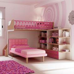 #Letto Soul slim in tessuto rosa su piedi King. KS13 catalogo Team for Kids www.moretticompact.com