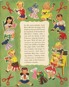 Betsy McCall Paper Doll Story Book.  (back cover)