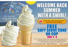 FREE Soft Serve Ice Cream at Burger King