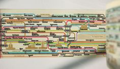 FAH-REEEKIN' AWESOME decorative packing tape from Korean stationery company ZeroPerZero. This one shows Tokyo's subway map.