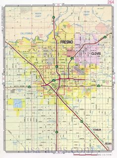 fresno map for hallway church music pinterest maps