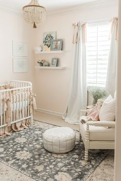 Air Collection The most luxurious nursery ideas to decor your baby's room. Visit and get inspired by some kids bedroom ideas.The most luxurious nursery ideas to decor your baby's room. Visit and get inspired by some kids bedroom ideas. Baby Bedroom, Nursery Room, Girls Bedroom, Nursery Curtains Girl, Vintage Nursery Girl, Baby Girl Nursery Bedding, Nursery Area Rug, Vintage Crib, Bedrooms