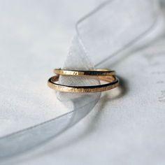 Sein und ihrs Hochzeitsband festgelegt zwei von ShopClementine