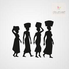 Afrikaanse vrouwen - Dewiha Art - Muursjablonen en Muurstickers