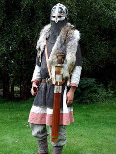 Anglo Saxon warrior reenactor