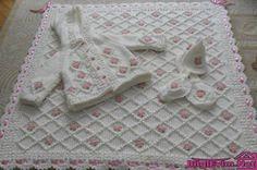Yeni Sezon Örgü Bebek Battaniye Modelleri (5)
