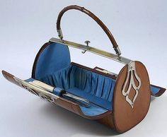 1850 Leather sewing -purse.