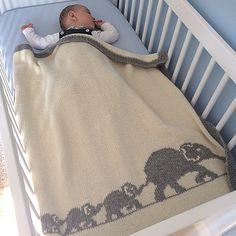 Ravelry: Elephant Family Blanket pattern by Mathilde R
