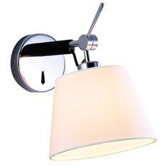 Kinkiet LAMPA ścienna ZYTA MB2300-XS BK Azzardo abażurowa OPRAWA regulowana czarna