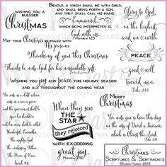 Christmas Scriptures & Card Sentiments Digital by WORDartbyKaren Christmas Card Verses, Christmas Scripture, Christmas Sentiments, Christmas Scrapbook, Christmas Quotes, Christmas Cards, Christmas Ideas, Christmas Card Messages, Christmas Greetings