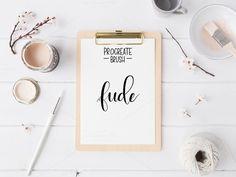 Procreate Custom Brushes - Fude by Lefty Script on @creativemarket