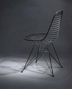 The structural component of an Upholstered Eames Wire Chair in the collection of The Metropolitan Museum of Modern Art