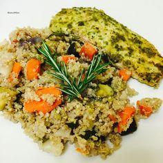 Sesame Quinoa with Halibut