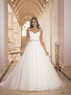 Ball Gown Wedding Dresses : Picture Description Sexy and Extravagant Stella York Wedding Dresses 2014 - MODwedding Wedding Dresses With Straps, Wedding Dress Train, Wedding Dresses 2014, Princess Wedding Dresses, Bridal Dresses, Wedding Gowns, Backless Wedding, Dresses 2016, Tulle Wedding