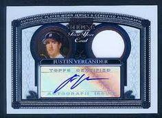 2005 Bowman Sterling Justin Verlander JSY AU Chrome Rookie Card. Wowsers.