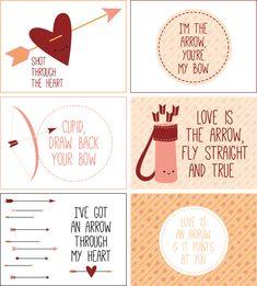 Tarjetas san Valentín #printable #imprimible