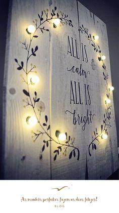 O blogue manhãs perfeitas em modo inspiração para o Natal, Inspiração para dias felizes, as manhãs perfeitas fazem os dias felizes, All is calm All is bright