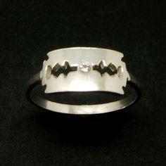 925 Sterling Silver Razor Blade Ring