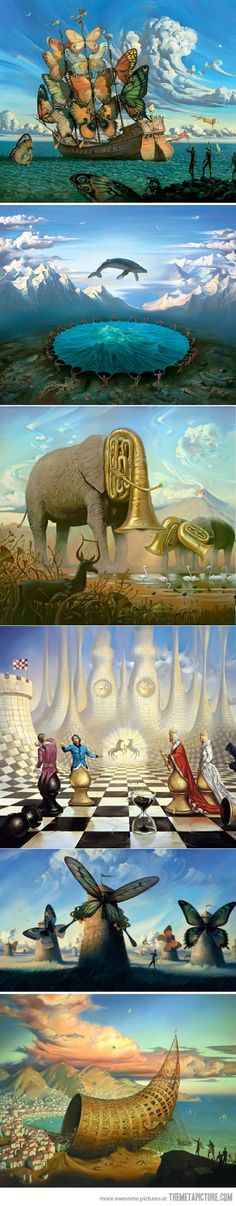 Surrealistic Painter: Vladimir Kush. Surrealist art is by far the best art