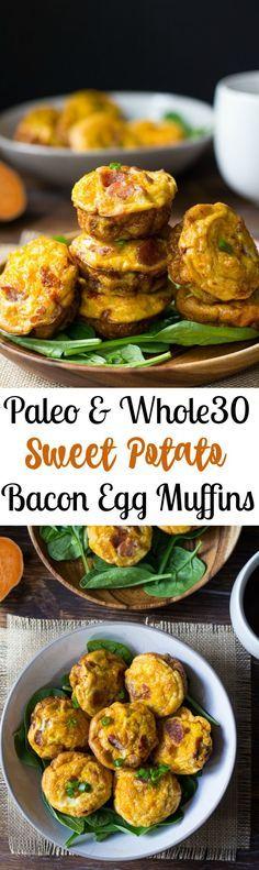 Paleo Sweet Potato Bacon Egg Muffins Recipe                                                                                                                                                                                 Mais