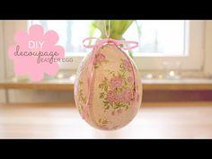 Decoupage Easter Wreath and Egg Step by Step - Φτιαχνω πασχαλιατικο στεφανι και αυγο - Diy by Debi - YouTube