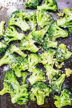 The perfect side dish to any meal! Broccoli baked with olive oil and garlic then sprinkled with parmesan cheese. Only 150 calories per serving!