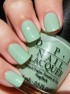 mint green OPI polish.