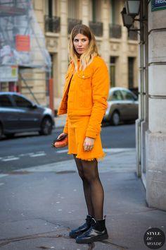 Paris Fashion Week FW 2016 Street Style: Veronika Heilbrunner